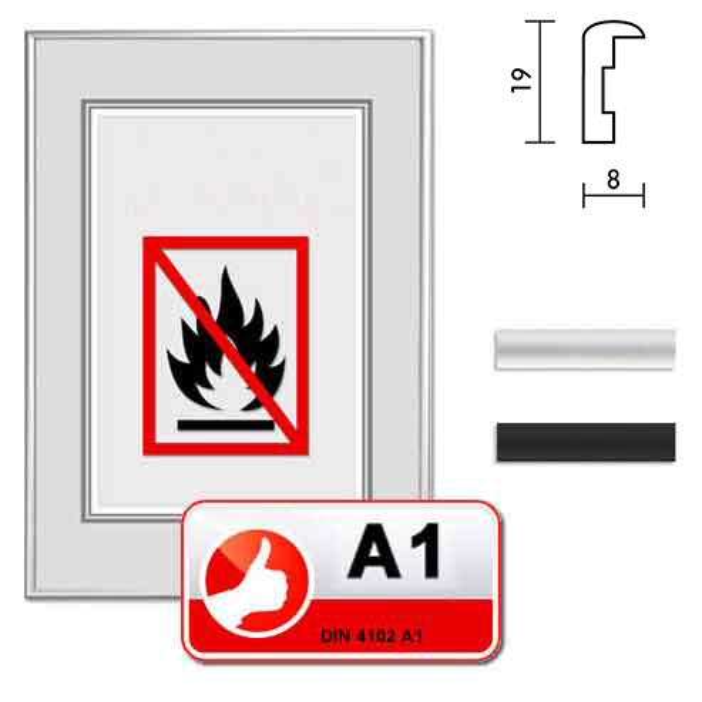 Cadre certifié ininflammable standard A1 Econ rond