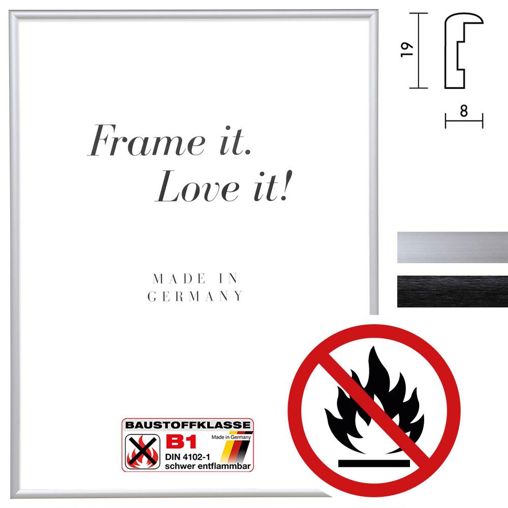 Cadre certifié ininflammable standard B1 Econ rond