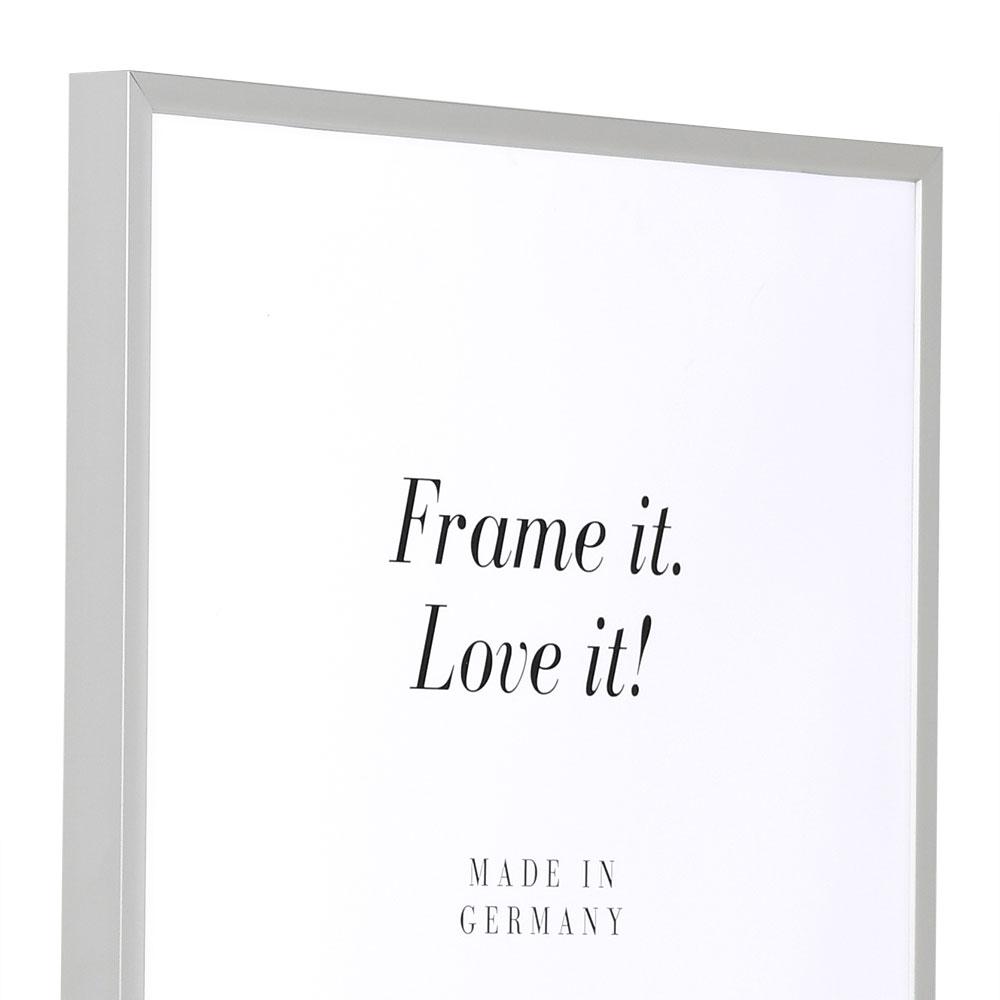 Cadre en aluminium Econ carré 13x18 cm | argentin mat | verre normal