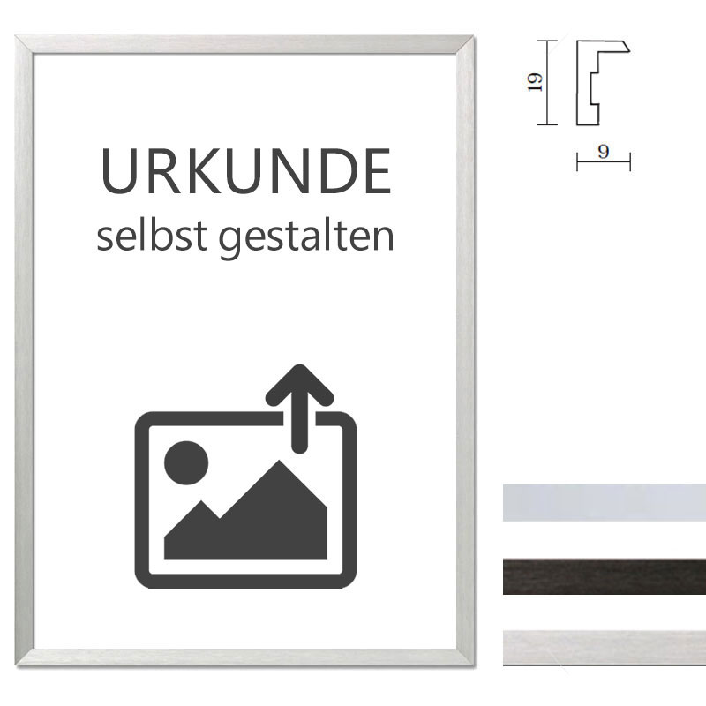 mira cadre en aluminium econ carr pour certificats. Black Bedroom Furniture Sets. Home Design Ideas