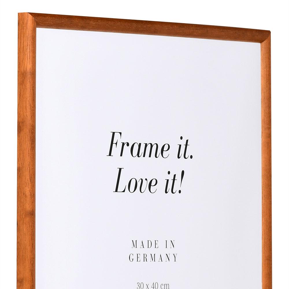 mira cadre en bois avignon sur mesure brun noix verre normal. Black Bedroom Furniture Sets. Home Design Ideas