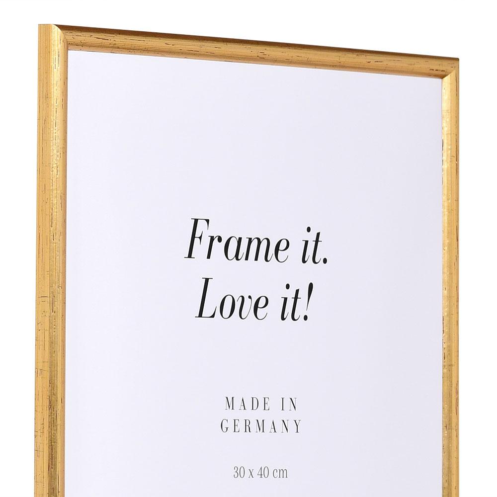 Cadre en bois Avignon 9x13 cm | or | verre normal