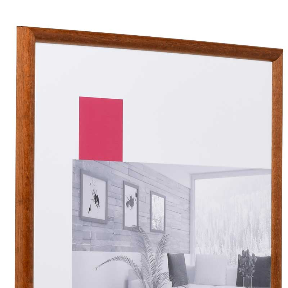 Cadre en bois Avignon 29,7x42 cm (A3) | brun noix | verre normal
