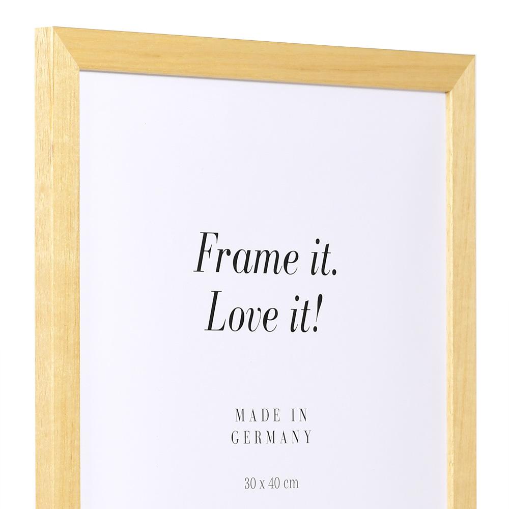Cadre économique en bois 28x35 cm | naturel | verre standard
