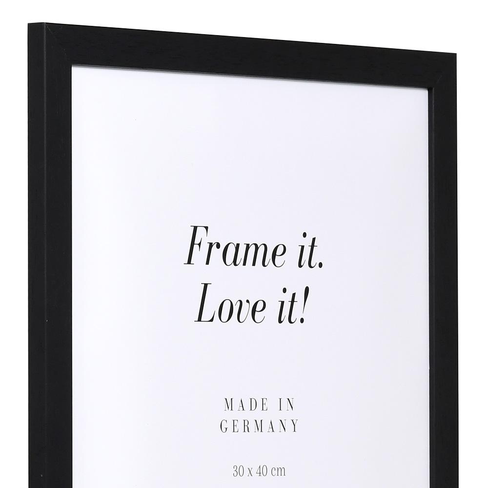Cadre économique en bois 7x10 cm | noir | verre normal