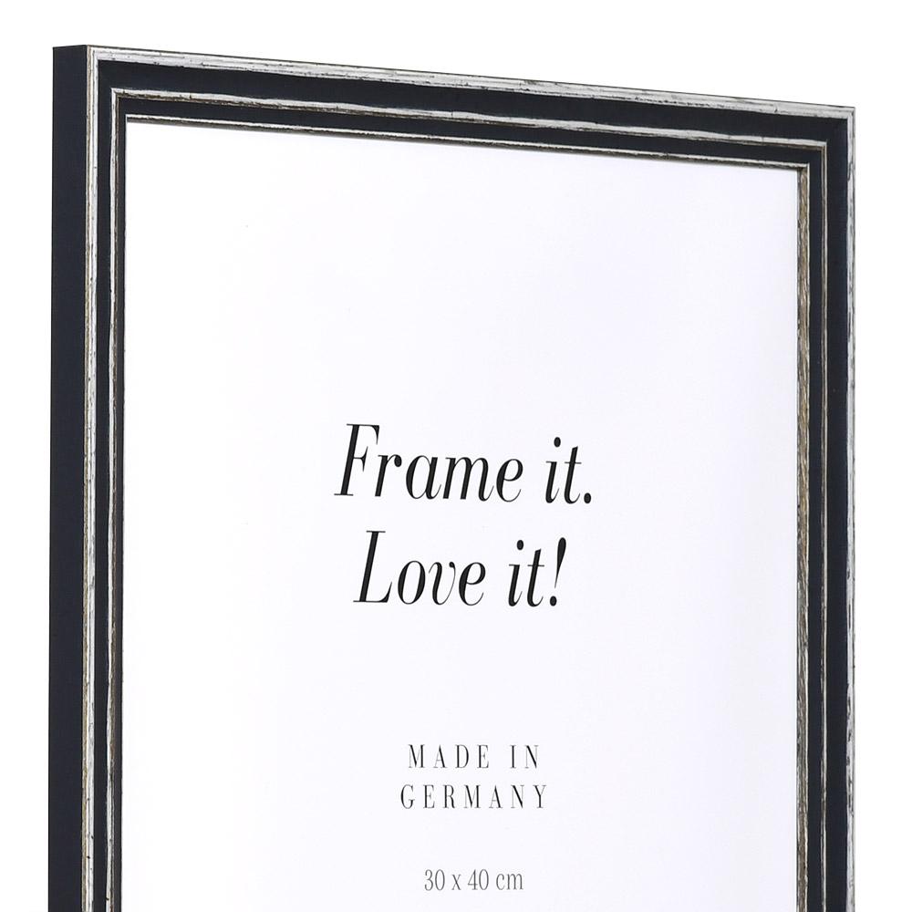 mira cadre en bois dijon 40x60 cm gris verre normal. Black Bedroom Furniture Sets. Home Design Ideas