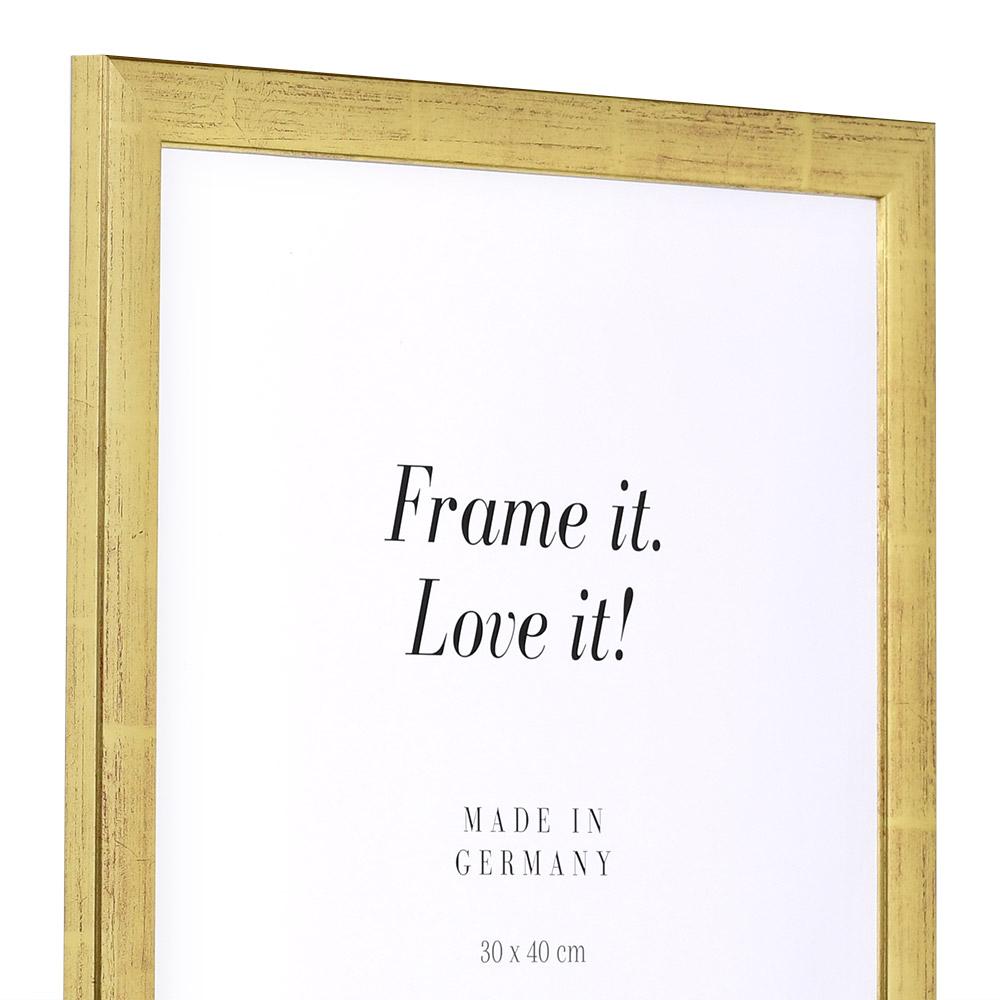 mira cadre en bois paris 10x15 cm or verre normal. Black Bedroom Furniture Sets. Home Design Ideas