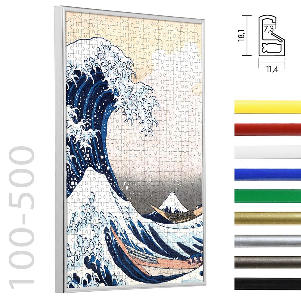 Cadre en plastique pour puzzles de 100 à 500 pièces