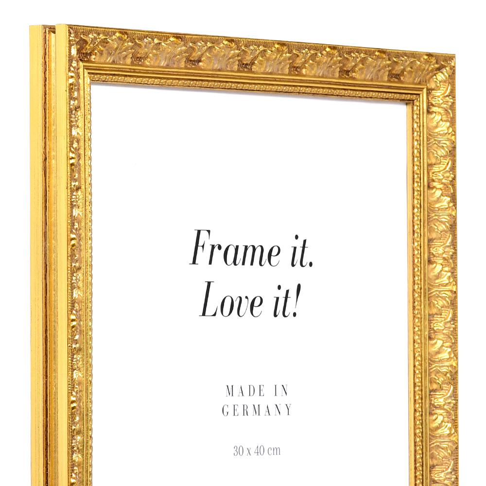 mira cadre baroque versailles 60x80 cm or verre normal. Black Bedroom Furniture Sets. Home Design Ideas