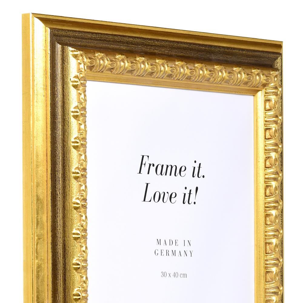 mira cadre en bois orsay sur mesure or verre normal. Black Bedroom Furniture Sets. Home Design Ideas
