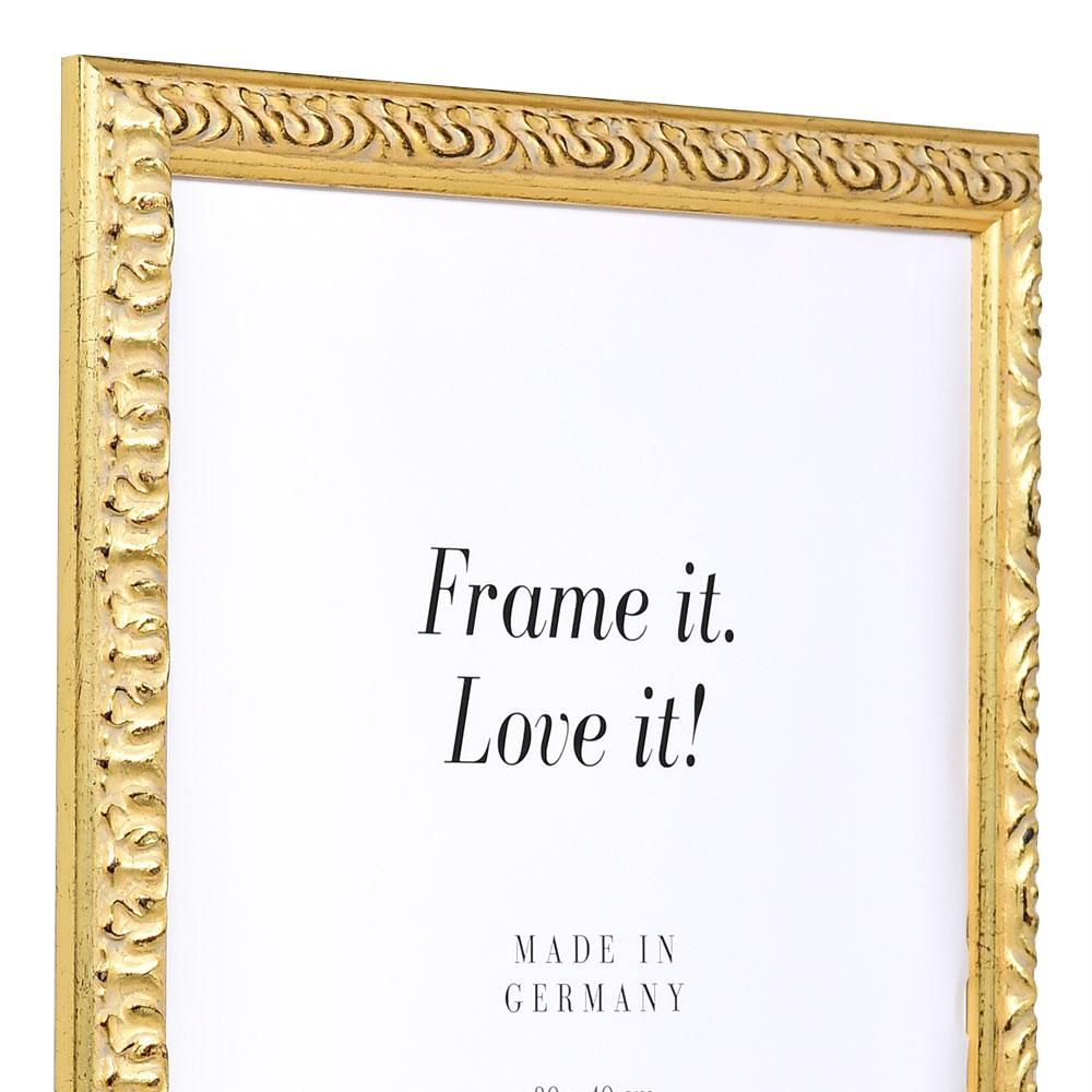 mira cadre baroque r melfing sur mesure or verre normal. Black Bedroom Furniture Sets. Home Design Ideas