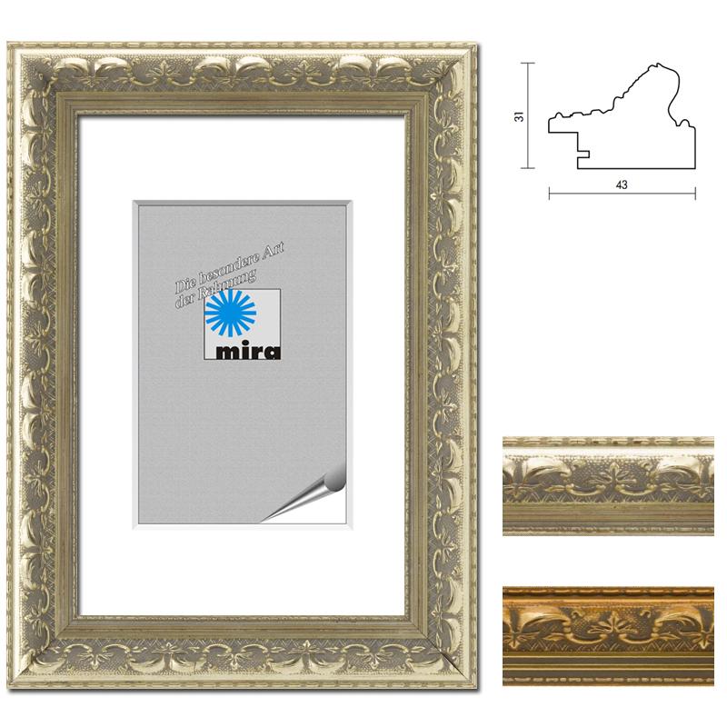 cadre baroque Monaco réalisation à mesure doré | verre anti-reflet