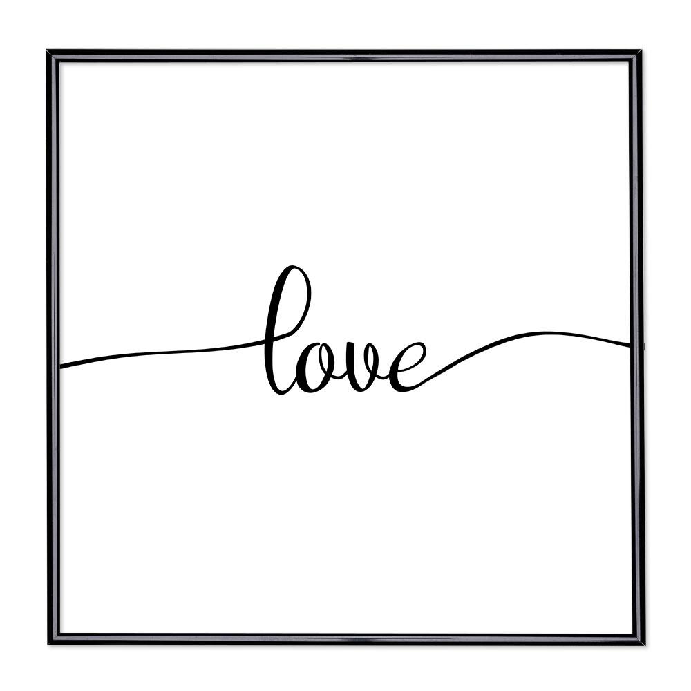Cadre avec slogan : Love 1