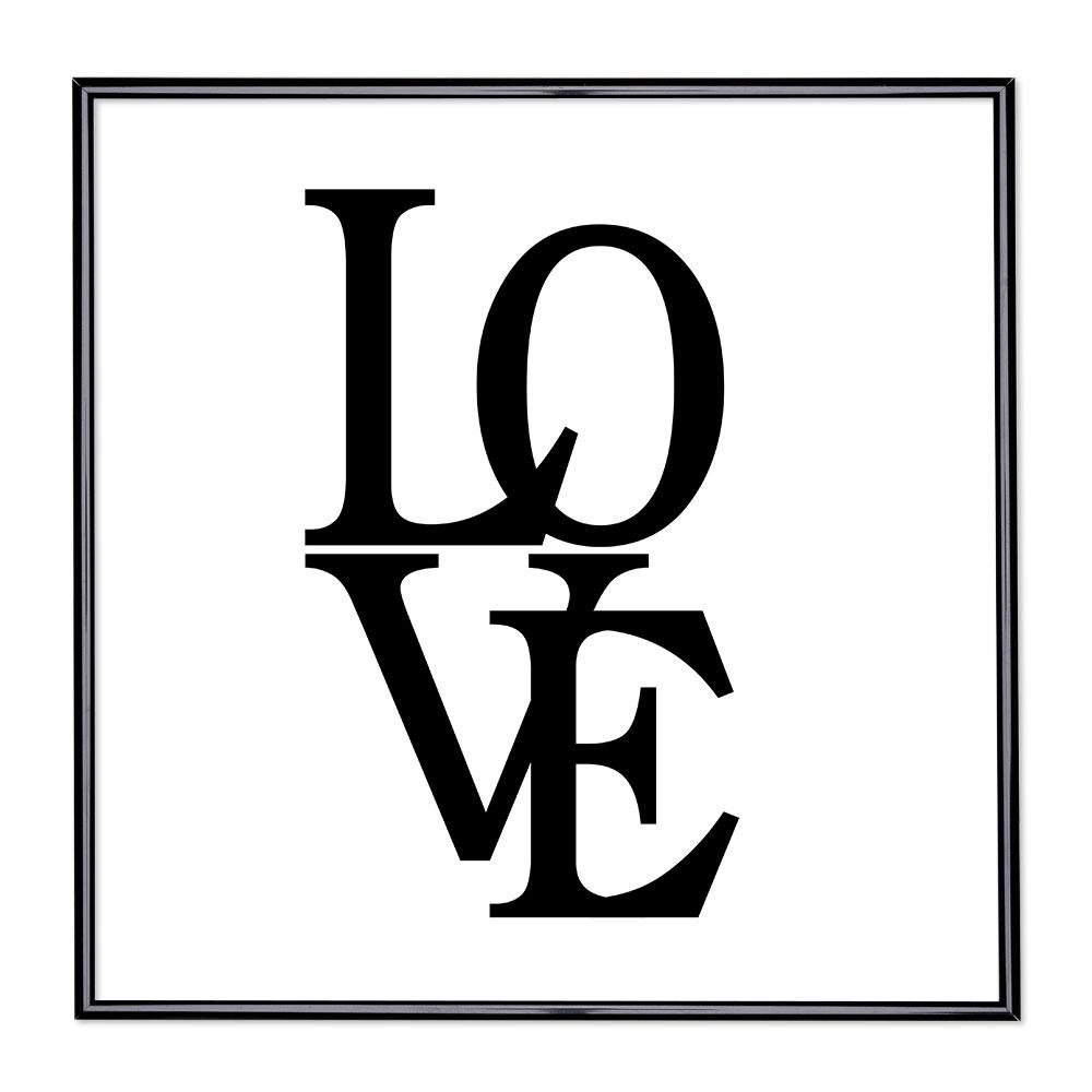Cadre avec slogan : Love 2