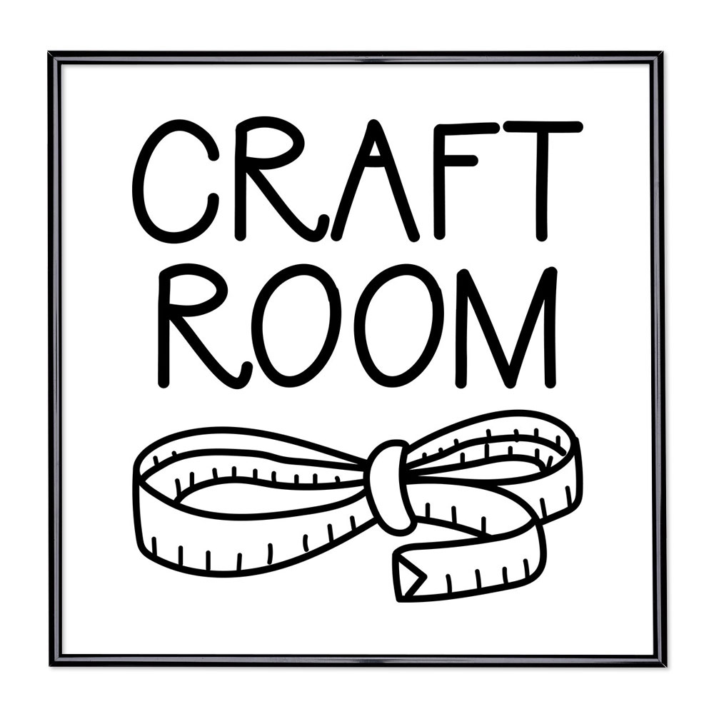 Cadre avec slogan : Craft Room