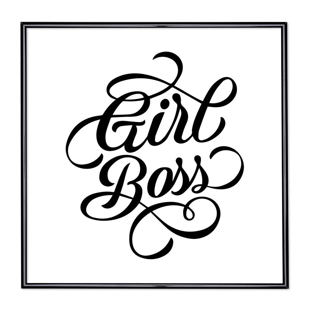 Cadre avec slogan : Girl Boss