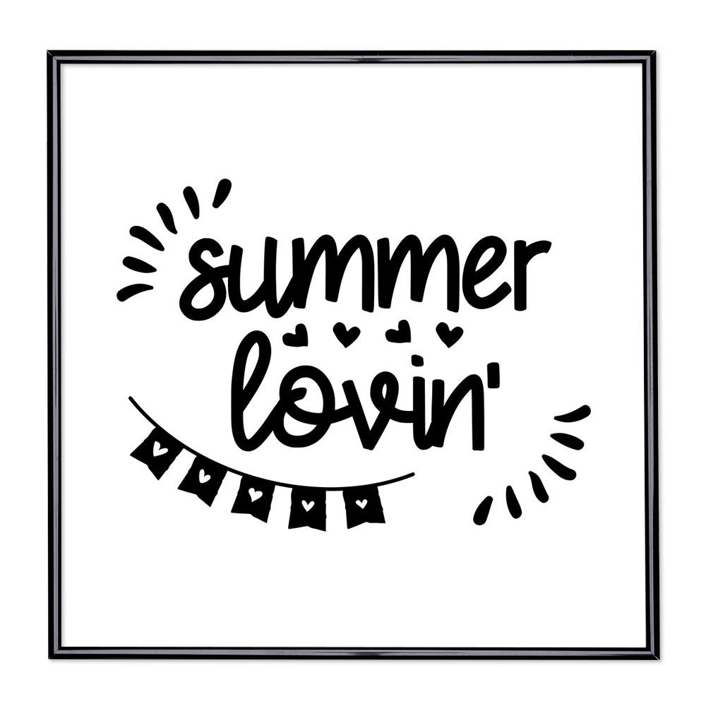 Cadre avec slogan : Summer Lovin