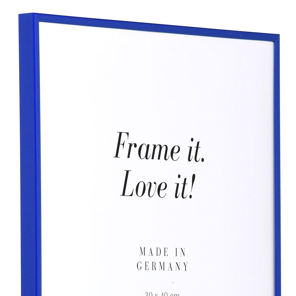 Cadre en plastique Art 10x15 cm | bleu | verre normal