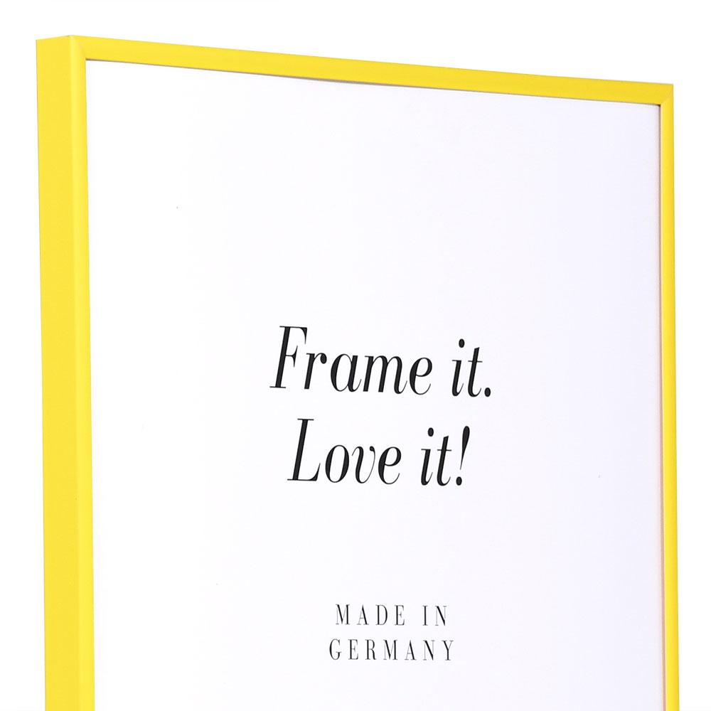 Cadre en plastique Art 10x15 cm   jaune   verre normal