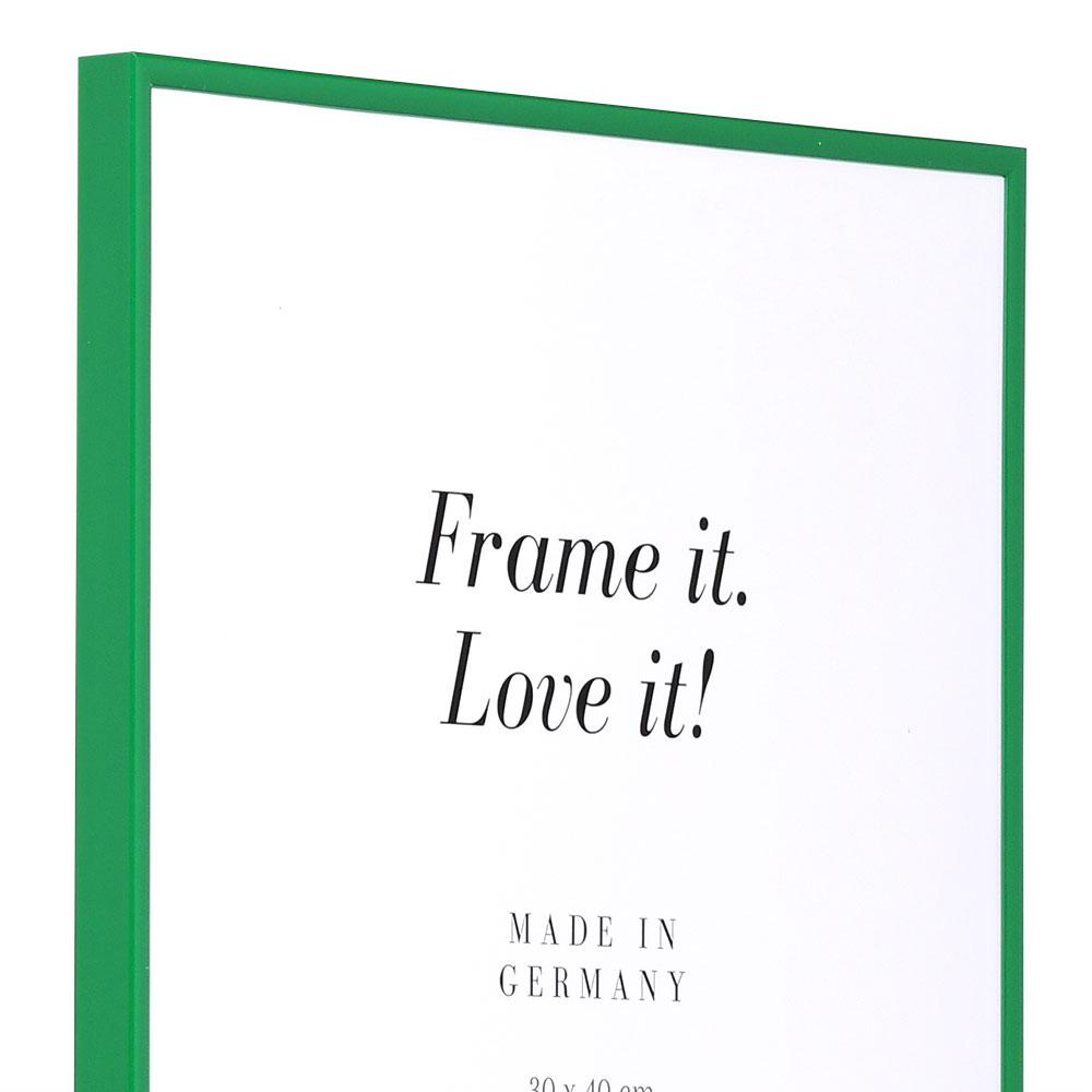 Cadre en plastique Art 10x15 cm | vert | verre normal