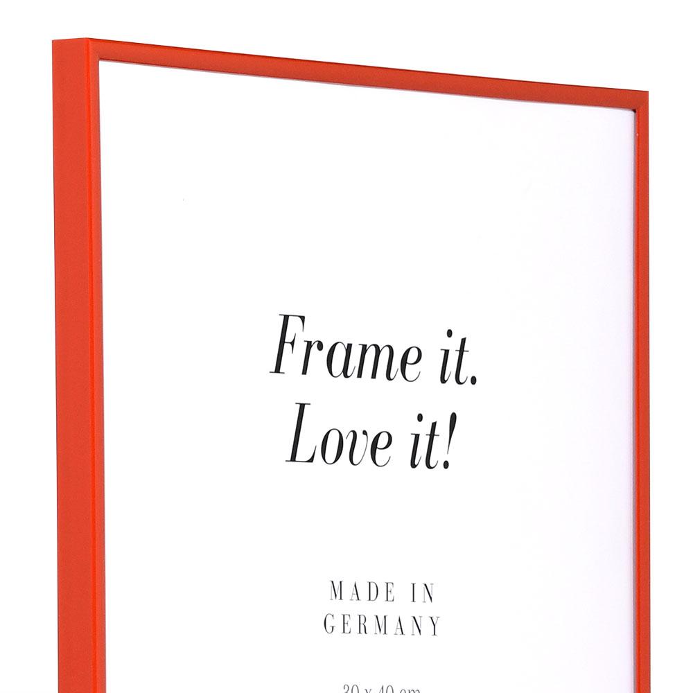 Cadre en plastique Art 10x15 cm | rouge | verre normal