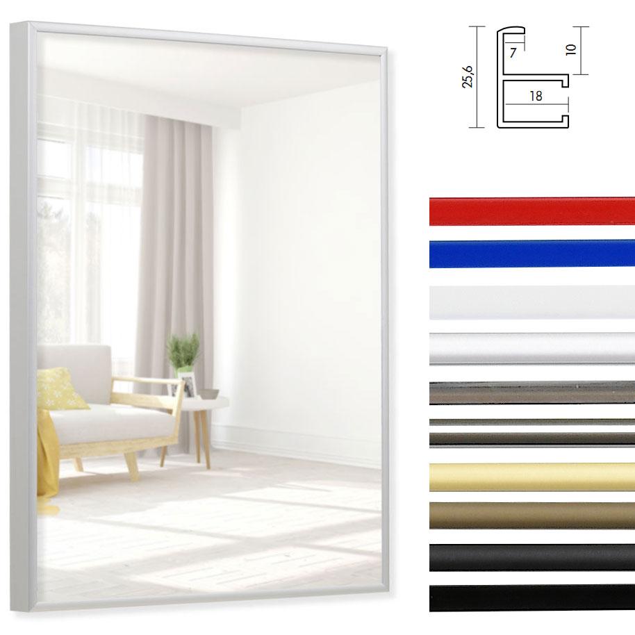 Miroir de salle de bain Quadro bordures en aluminium