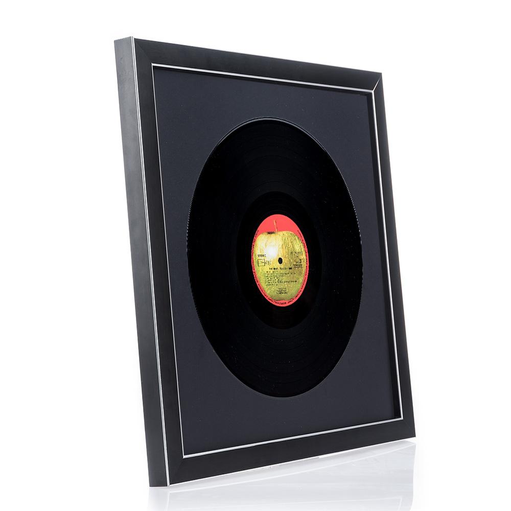 Cadre en bois Moulins pour disques vinyliques