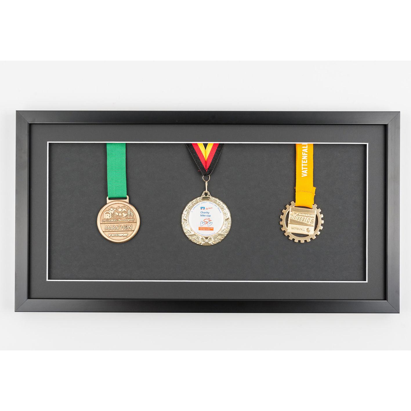 Cadre pour médailles 25x50 cm, noir