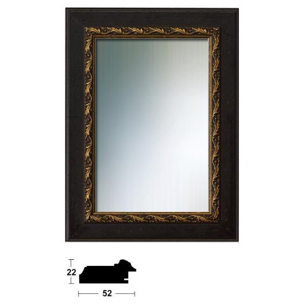 Cadre pour miroir Chambéry sur mesure brun noix-or | miroir
