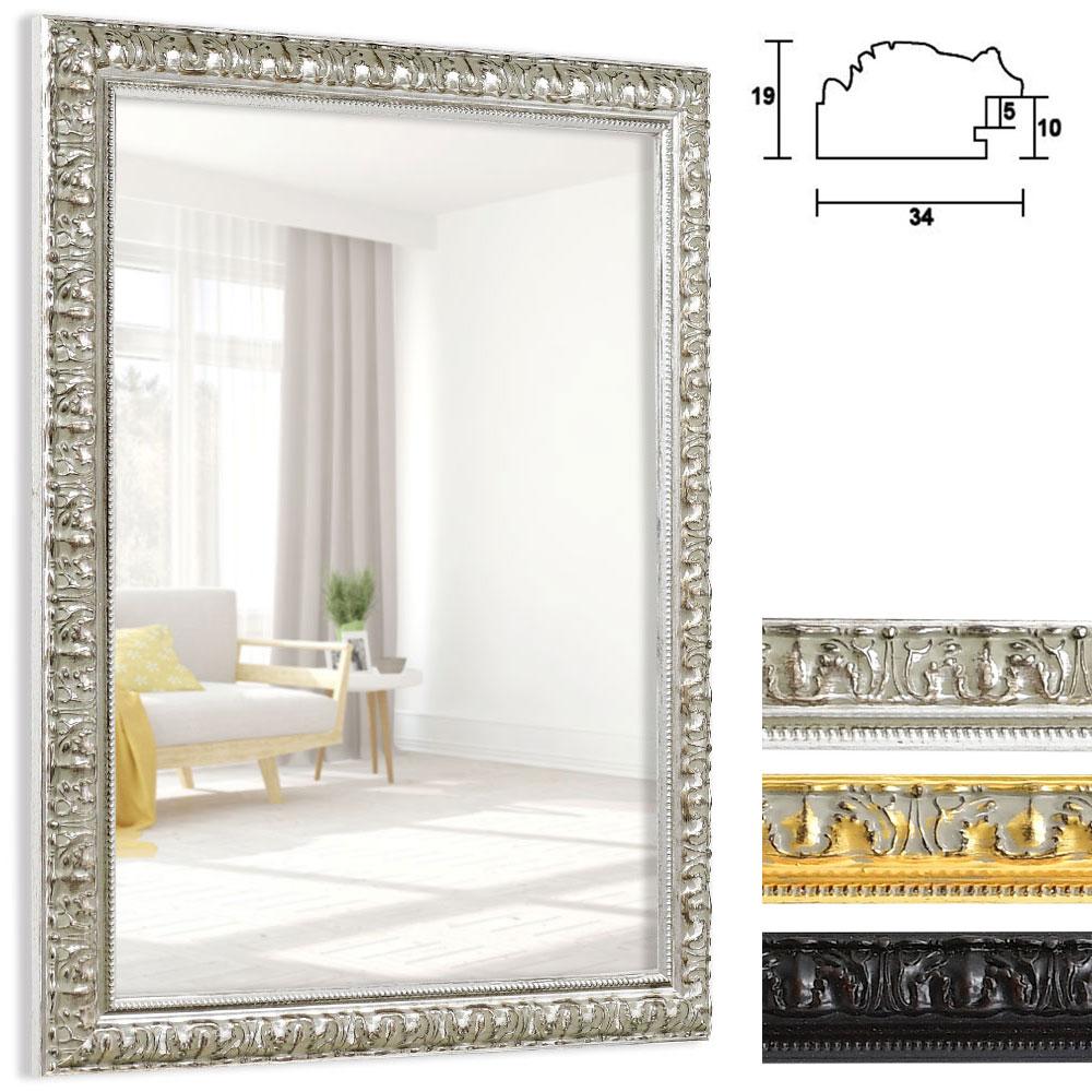 Cadre pour miroir Cassis sur mesure argent | miroir