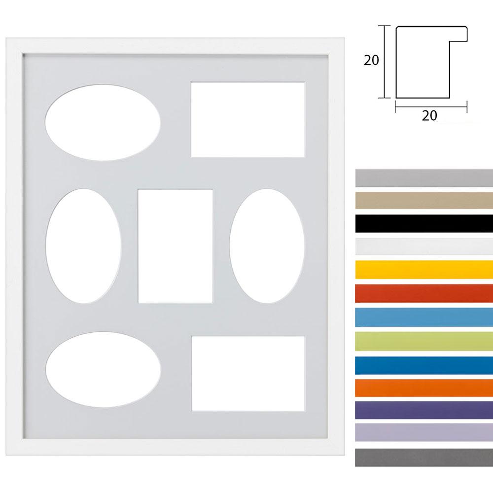 Cadre galerie pour 7 photos Top Cube in 40x50 cm
