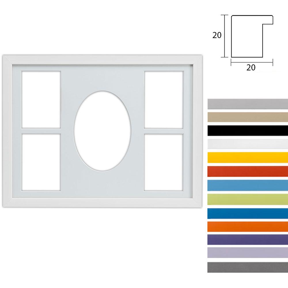 Cadre Top Cube avec passe-partout multiple à 5 ouvertures, 30x40 cm