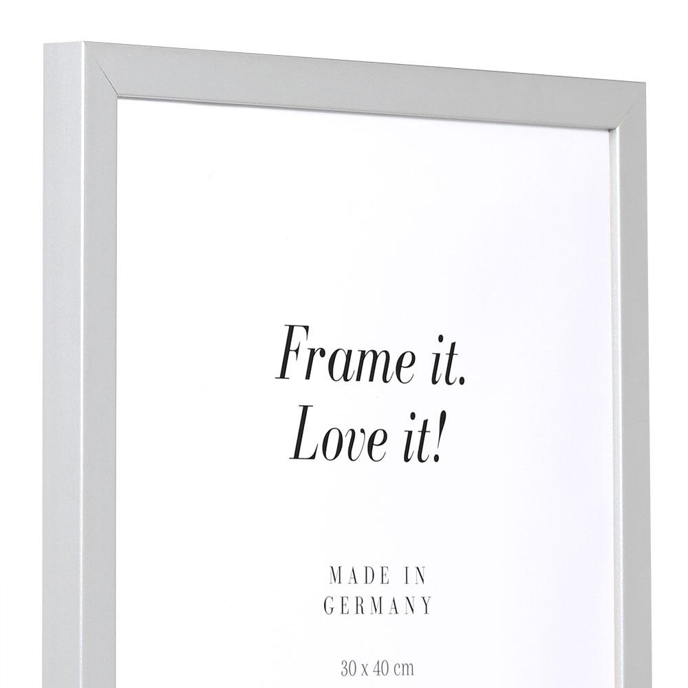 Cadre en bois Top Cube 70x70 cm | argent | verre standard