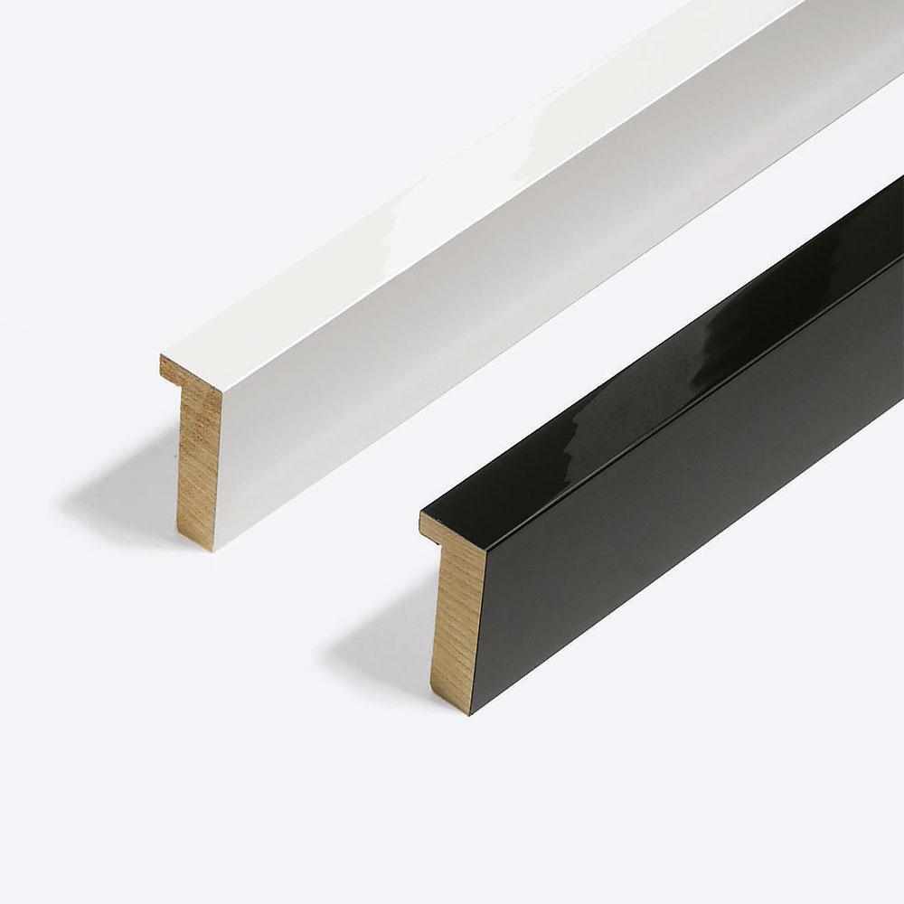 Cadre en bois coupe sur mesure, Matrix B&W 20x52