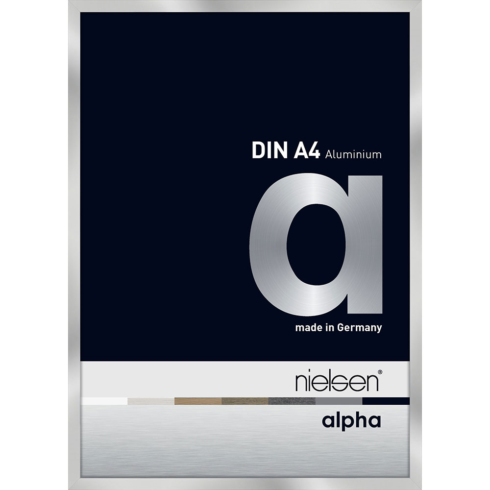 Cadre en aluminium Alpha 10x15 cm | argentin | verre normal