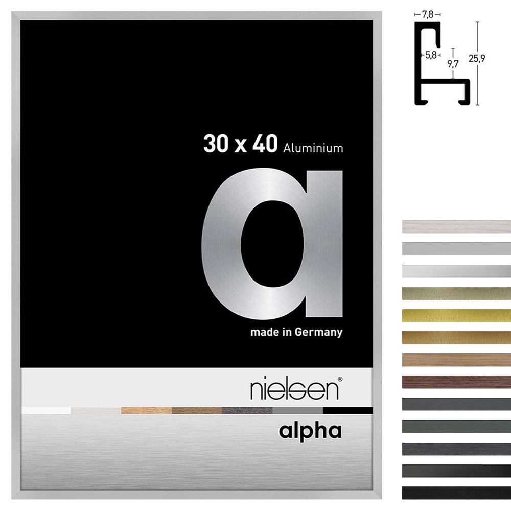 Cadre en aluminium profil alpha
