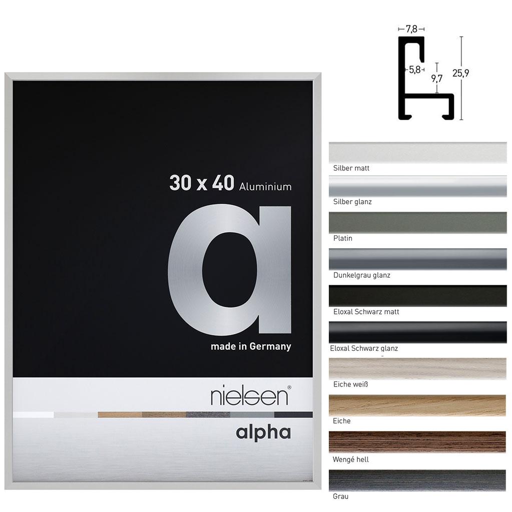 Cadre en aluminium coupe sur mesure, profil alpha