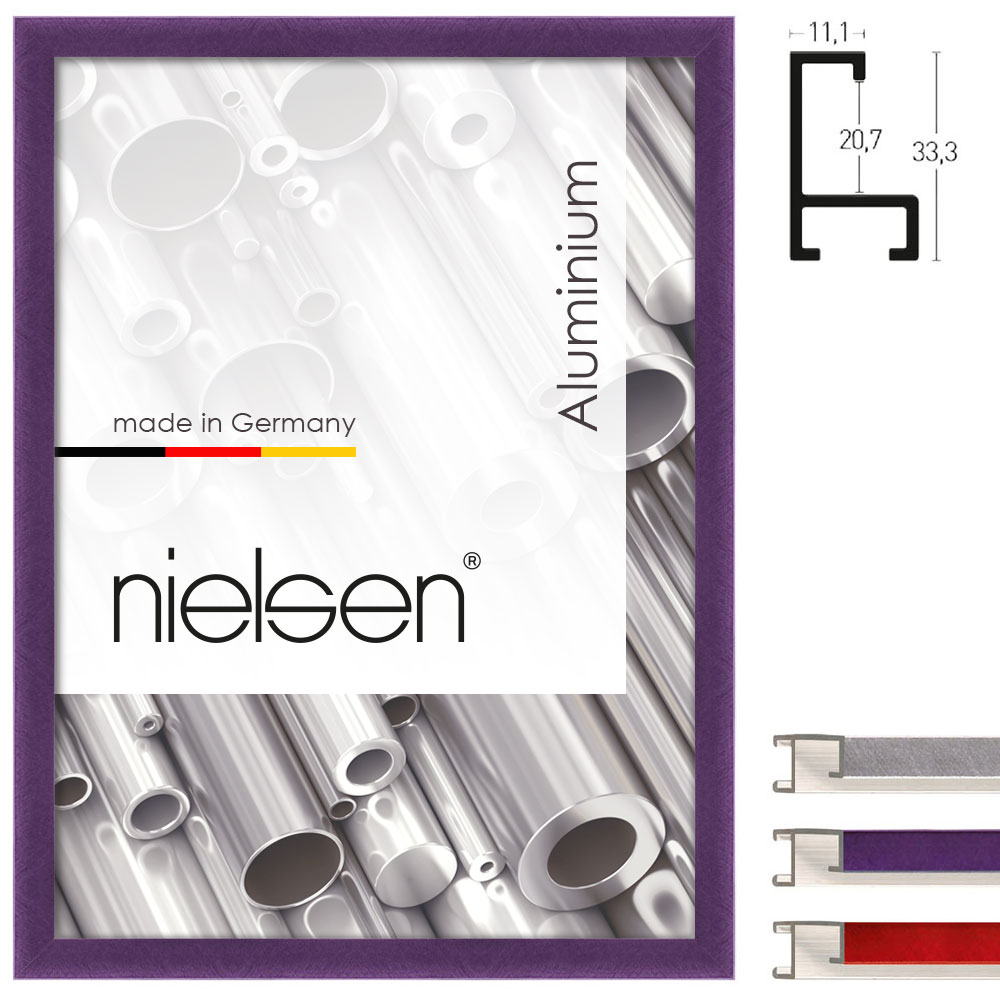 nielsen cadre en aluminium coupe sur mesure profil 221. Black Bedroom Furniture Sets. Home Design Ideas