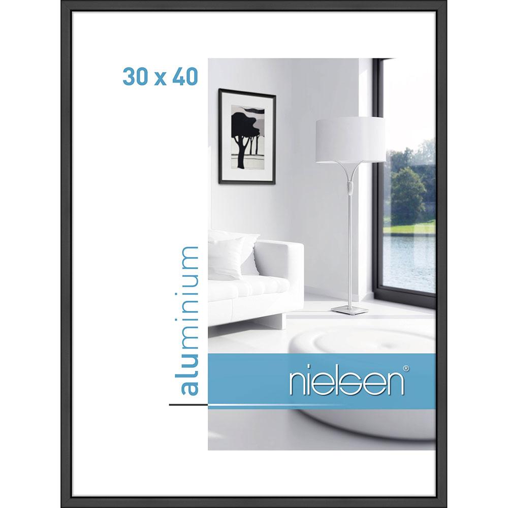 Cadre en aluminium Classic 30x40 cm | noir mat | verre normal