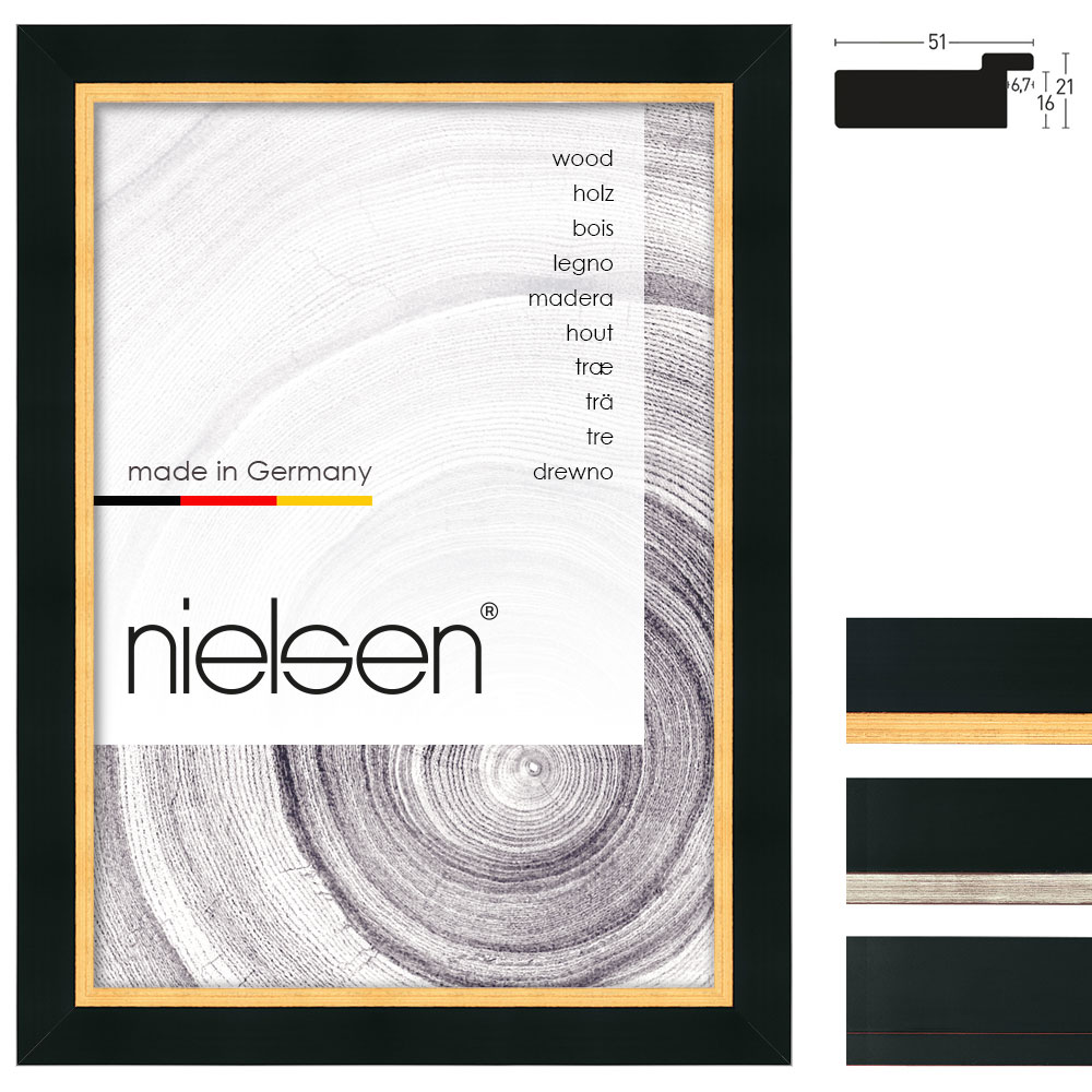Nielsen Cadre en bois coupe sur mesure, Metropolitan 51 # Cadre En Bois Sur Mesure