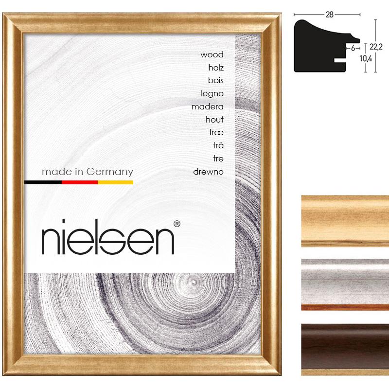 nielsen cadre en bois derby 28 21x29 7 cm a4 or. Black Bedroom Furniture Sets. Home Design Ideas