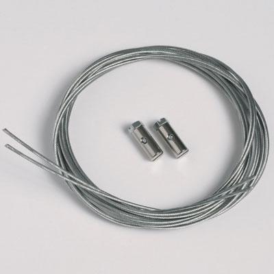 50 pièces corde en acier 1,3mm/200cm avec planeurs à vis (max. capacité de charge 7 kg)