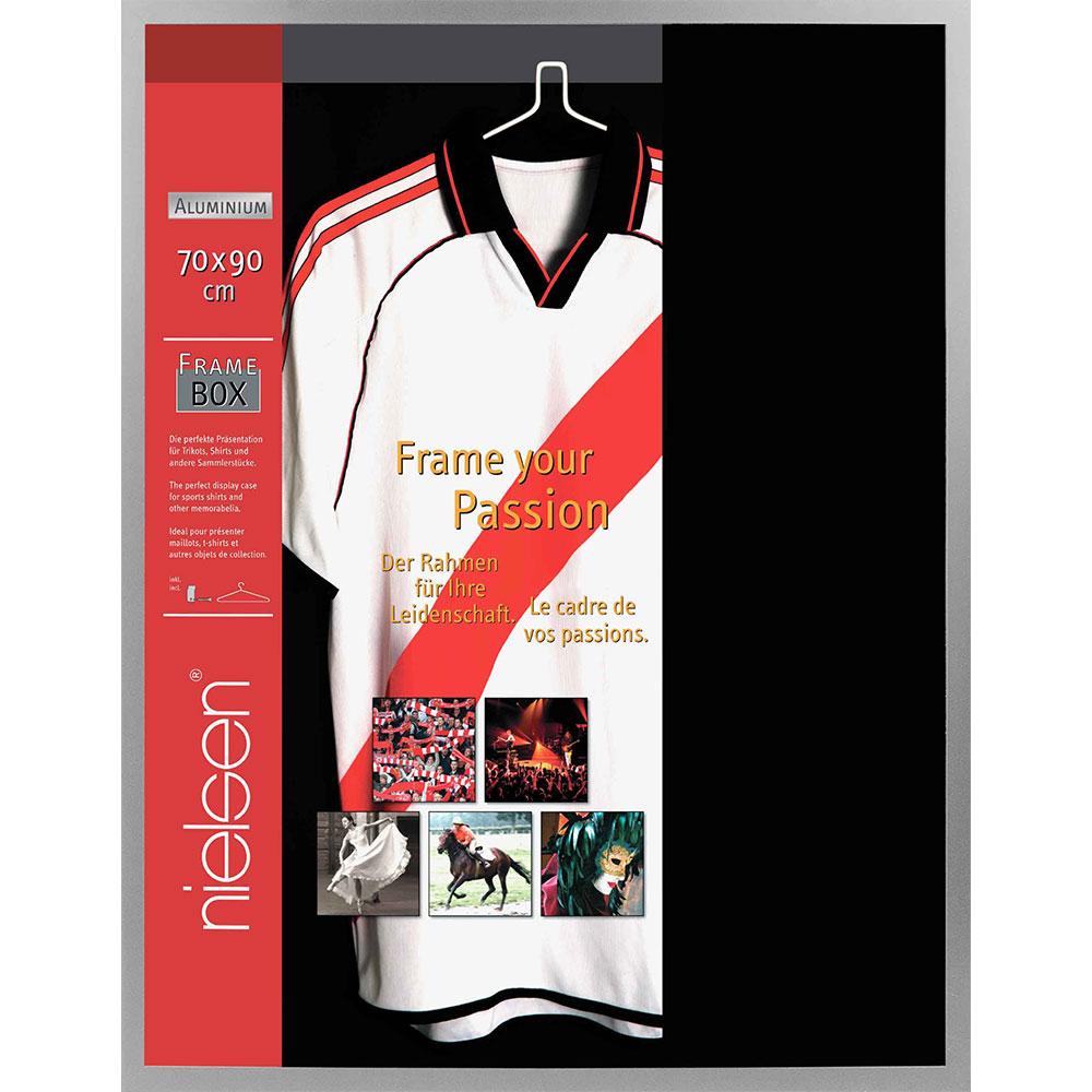 FrameBox - Cadre pour maillots 70x90 cm   argent mat   verre artificiel