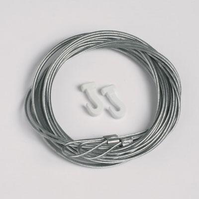 2 pièces corde en acier 1,3mm/200cm avec boucle et crochets