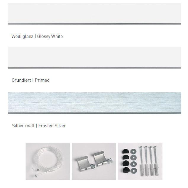 Rails galerie Profi AVEC accessoires