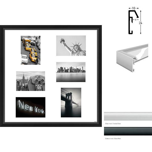 Cadre galerie Junior quadratique 6 photos