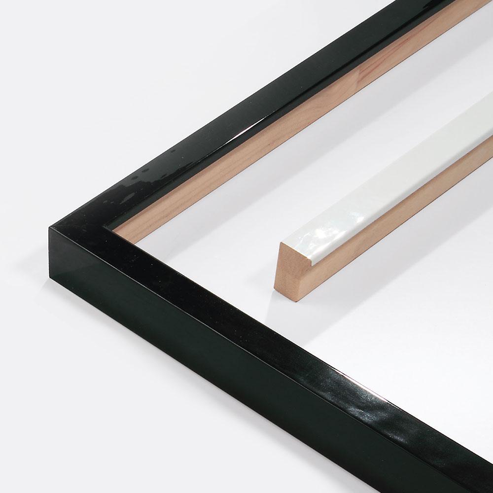 Cadre en bois coupe sur mesure, Matrix B&W 20x34