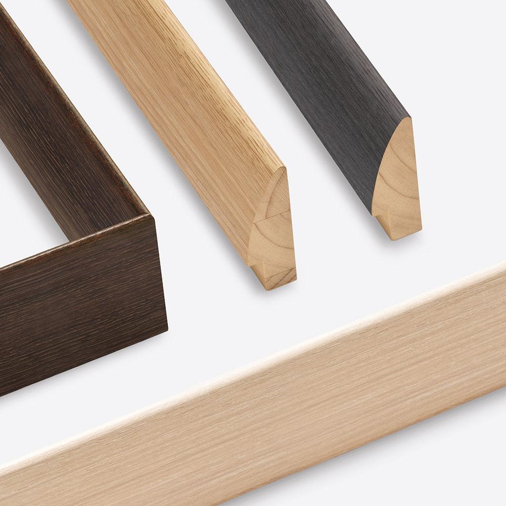 Nielsen Cadre en bois coupe sur mesure, Woodline 20 # Cadre En Bois Sur Mesure