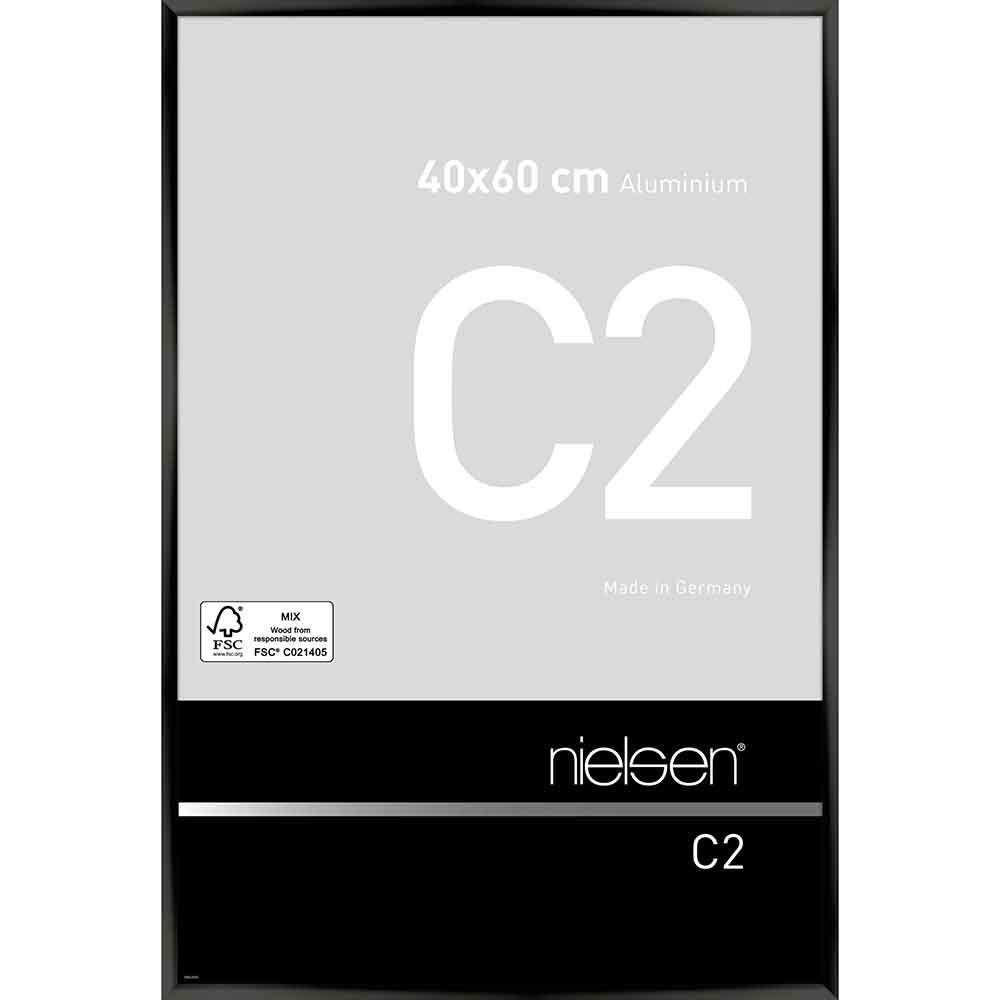 Nielsen au cadre en aluminium c2 40x50 cm Eloxal noir brillant