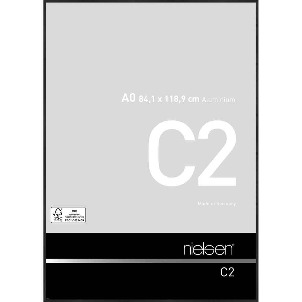 Au cadre en aluminium c2 Noir Mat 70x70 cm